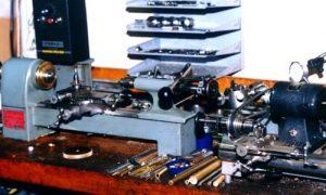 Derbyshire instrument lathe and Boley watchmaking lathe